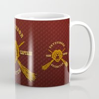 quidditch Mugs featuring Gryffindor quidditch team iPhone 4 4s 5 5c, ipod, ipad, pillow case, tshirt and mugs by Three Second