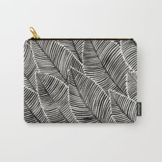 Tropical Palm Leaves – Black Palette Carry-All Pouch