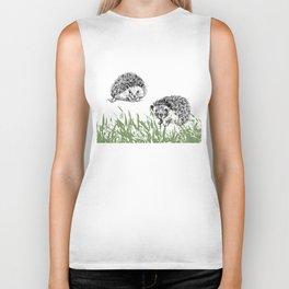 Hedgehogs print Biker Tank