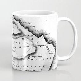 Vintage Map of Barbados (1823) BW Coffee Mug
