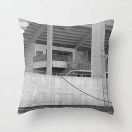 katowice stadion, texture photography, architecture Throw Pillow