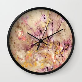 Abstract Marble Acrylic Cherry Blossom Flower Wall Clock