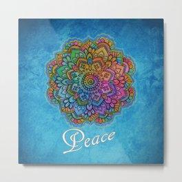 Peace Mandala Metal Print
