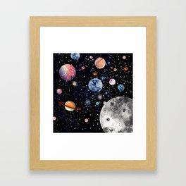 Cosmic world Framed Art Print