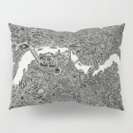 London map drawing ink pen Pillow Sham