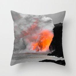 Lava Meets Ocean Throw Pillow
