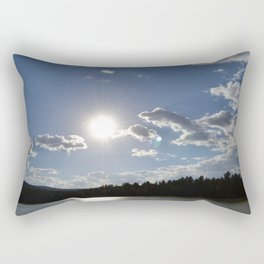 Sun Over Lake in White Mountains Arizona Rectangular Pillow