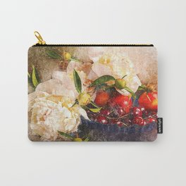 Peonies Flowers Berries Carry-All Pouch