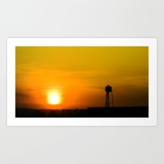 water tower Art Print
