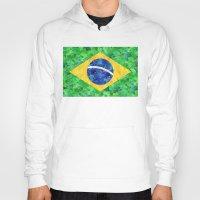 brasil Hoodies featuring BRASIL em progresso by Bianca Green