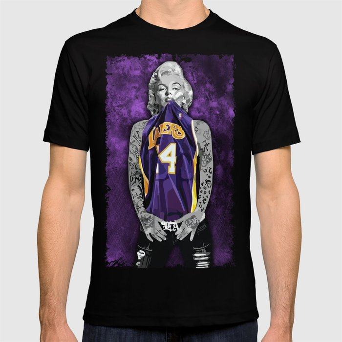 Marilyn Monroe Los angeles Lakers with tattoos T-shirt by ...
