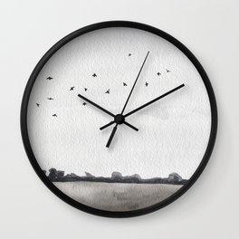 Winter Field Wall Clock