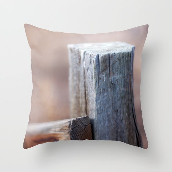 Fence Post II Throw Pillow
