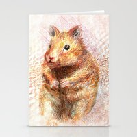 hamster Stationery Cards featuring hamster by dace k