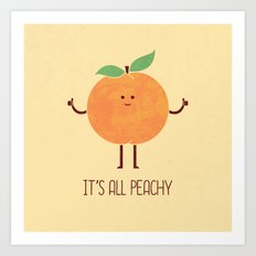 All Peachy Art Print