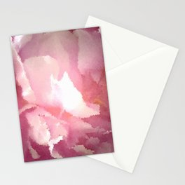 Lovely Pink Abstract Floral Mosaic Stationery Cards