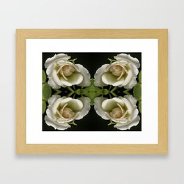 Kaleidoscope Peach Framed Art Print