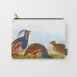 Plumed Partridge and Thick-legged Partridge Carry-All Pouch