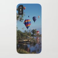 hot air balloon iPhone & iPod Cases featuring Hot air balloon scene by Bruce Stanfield