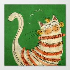 Cat - green Canvas Print