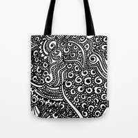 henna Tote Bags featuring Henna me  by Designs by NN