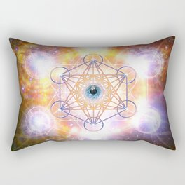 """Aad Guray Nameh""- Merkaba-  Protective energy of the Universe Rectangular Pillow"