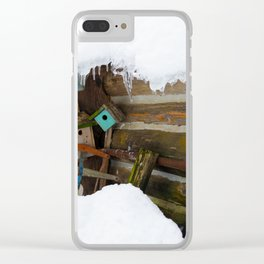 Winter Rustic Charm Clear iPhone Case