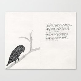 Old Bird page 2 Canvas Print