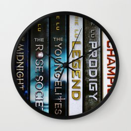 Marie Lu Book Spines Wall Clock