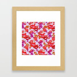 Hearts and Kisses Framed Art Print