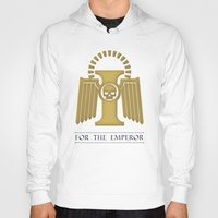 warhammer Hoodies featuring For the Emperor by Imperial Diet