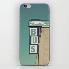 Greyhound Bus Sign iPhone & iPod Skin