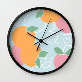 Oranges and Peaches Wall Clock