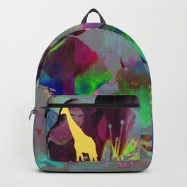 Colours Giraffes. On Front Page. Backpack