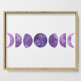 Lunar Phases in Violet Serving Tray