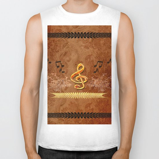 Music, clef Biker Tank
