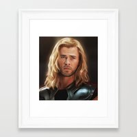 thor Framed Art Prints featuring Thor by LindaMarieAnson