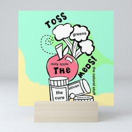 Toss the Meds by Rosalie - Zine Page Mini Art Print