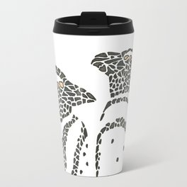 Vanishing Penguins by Black Dwarf Designs Travel Mug
