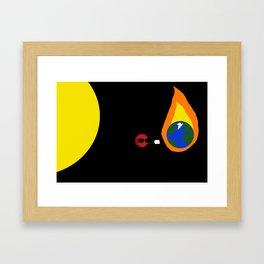 We be burnin Framed Art Print