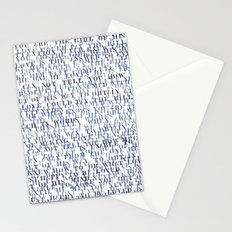 Sentences of Love Blue Stationery Cards