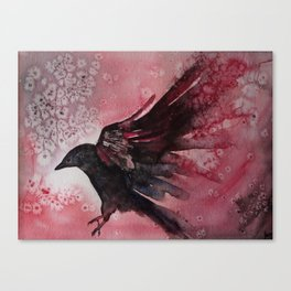Abstract Crow Canvas Print