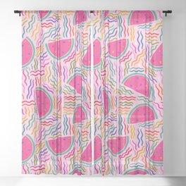 Watermelon Print Sheer Curtain