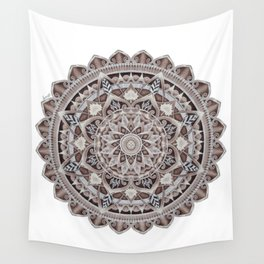 Copper Geo-Circle White Background  Wall Tapestry