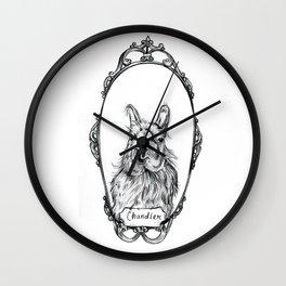 Chandler the Llama Wall Clock