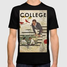 Welcome to... College Black Mens Fitted Tee LARGE