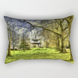 Pagoda Battersea Park Van Gogh Rectangular Pillow