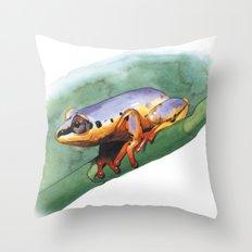 rana del madagascar 2 Throw Pillow
