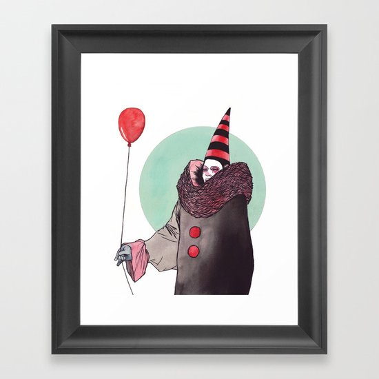 The Balloon Man Framed Art Print