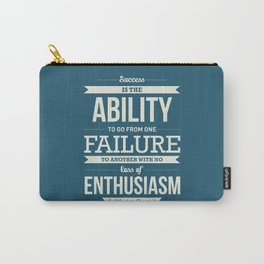 Lab No. 4 - Winston Churchill British Politician Typography Quotes Poster Carry-All Pouch